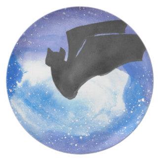 Bat In Flight Plate