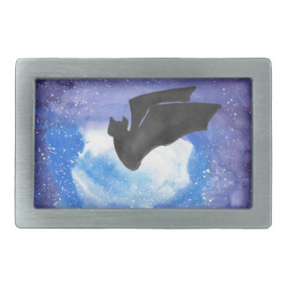 Bat In Flight Rectangular Belt Buckles