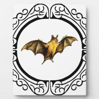 Bat loops fancy plaque
