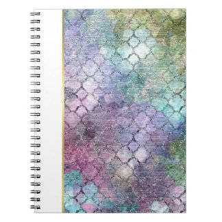 Bat Mitzvah Abstract Pastel Pattern Note Book