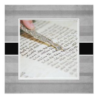 "Bat Mitzvah Announcements/Invitations 5.25"" Square Invitation Card"