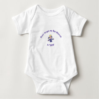 BAT MITZVAH INFANT GIRL OUTFIT 3-SNAPS BABY BODYSUIT