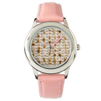 Bat Mitzvah Matzoh Pink Strap Watch for Kids