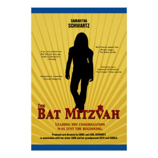 Bat Mitzvah Movie Star Poster