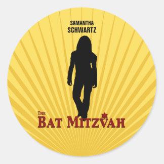 Bat Mitzvah Movie Star Sticker