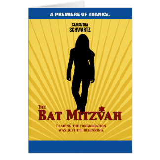 Bat Mitzvah Movie Star  Thank You Card