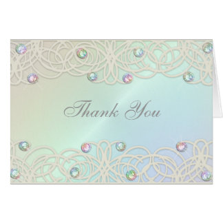 Bat Mitzvah Sparkle and Lace Rainbow Card