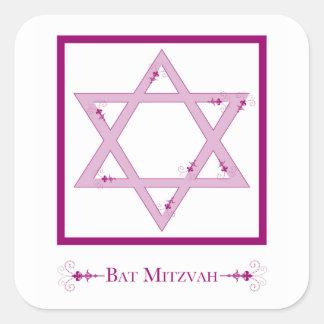 bat mitzvah (star of david elegance) square sticker