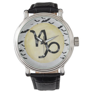 Bat Moon Capricorn Wristwatches