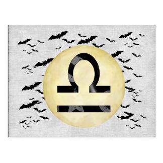 Bat Moon Libra Postcard