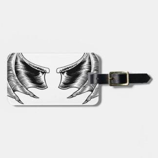 Bat or Dragon Wings Bag Tag