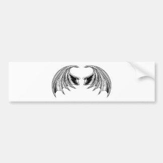 Bat or Dragon Wings Bumper Sticker
