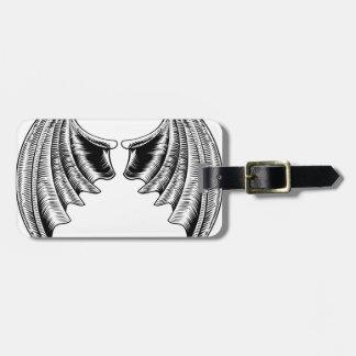 Bat or Dragon Wings Design Luggage Tag