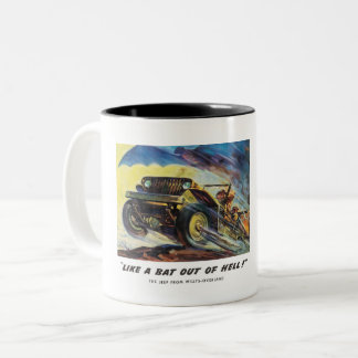 Bat Out of Hell Two-Tone Coffee Mug