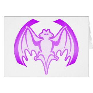 Bat Purple Inv  jGibney The MUSEUM Zazzle Gifts Greeting Card
