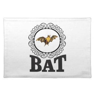 bat ring placemat