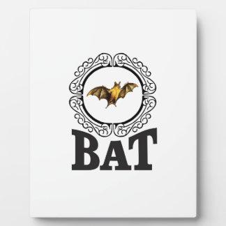 bat ring plaque