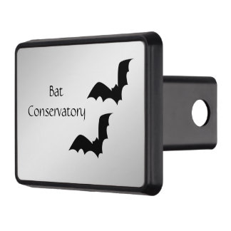 Bat Silver Personal Trailer Hitch Cover