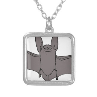 Bat Silver Plated Necklace