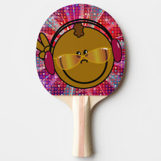 Bat - smiley DJ - plays ping-pong disco style Ping-Pong Paddle