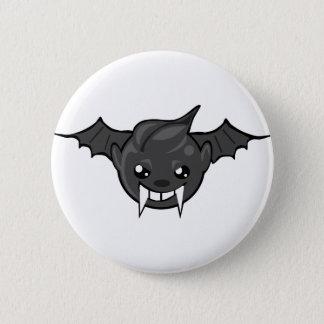 bat smiley face 2 inch round button