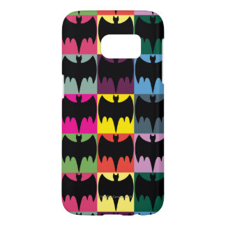 Bat Symbol Grid Pattern Samsung Galaxy S7 Case