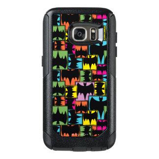 Bat Symbol Squares Pattern OtterBox Samsung Galaxy S7 Case