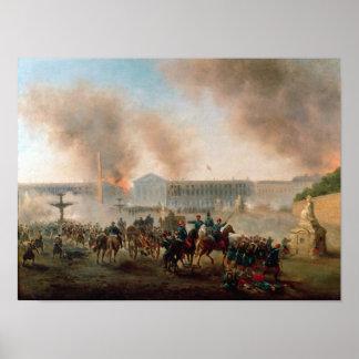 Bataille dans le Place de la Concorde, 1871 Affiches