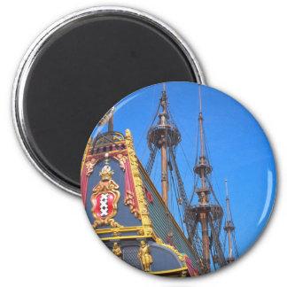 Batavia - Dutch East Indies ship 2 Inch Round Magnet