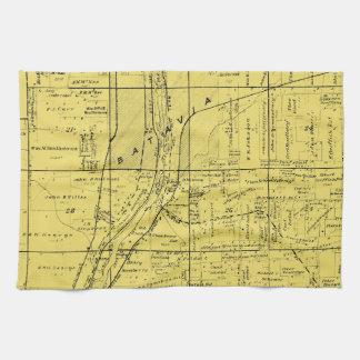 BATAVIA ILLINOIS 1871 MAP FOX RIVER VALLEY KITCHEN TOWEL