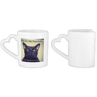Batcat: Nesting mugs Couples' Coffee Mug Set