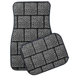 Batch of complete carpet car (batch of 4) Leopard Car Mat