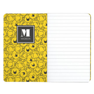 Batch of Yellow Smiles Pattern | Add Your Name Journal