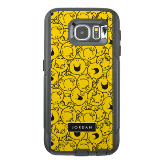 Batch of Yellow Smiles Pattern   Add Your Name OtterBox Samsung Galaxy S6 Case
