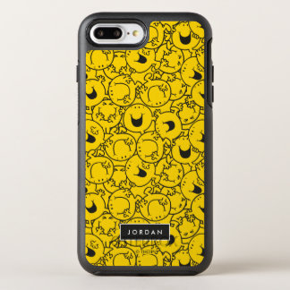 Batch of Yellow Smiles Pattern | Add Your Name OtterBox Symmetry iPhone 8 Plus/7 Plus Case