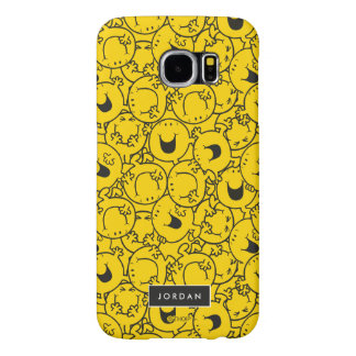 Batch of Yellow Smiles Pattern   Add Your Name Samsung Galaxy S6 Cases