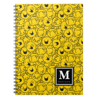 Batch of Yellow Smiles Pattern | Add Your Name Spiral Note Book