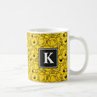 Batch of Yellow Smiles Pattern | Monogram Coffee Mug