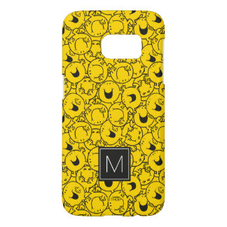Batch of Yellow Smiles Pattern | Monogram Samsung Galaxy S7 Case
