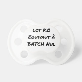 BATCH PROCESSING KB IS EQUIVALENT TO NULL BATCH PACIFIER