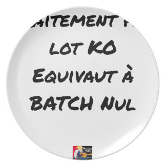 BATCH PROCESSING KB IS EQUIVALENT TO NULL BATCH PLATE