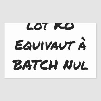BATCH PROCESSING KB IS EQUIVALENT TO NULL BATCH STICKER
