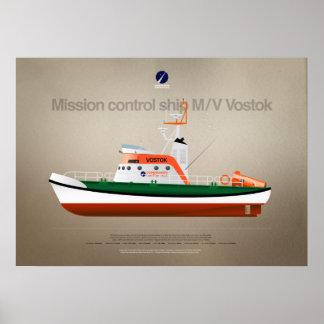 Bateau m/v Vostok de Centre de contrôle de la Poster