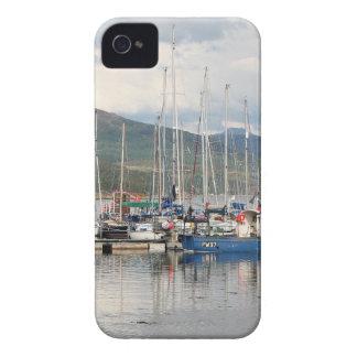 Bateaux chez Kyleakin, île de Skye, Ecosse Coque iPhone 4