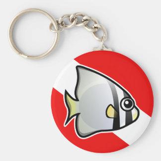Batfish Dive Flag Keychain