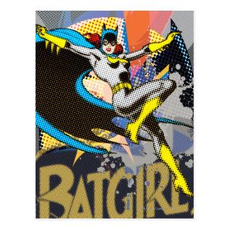 Batgirl Mid-Air Postcard