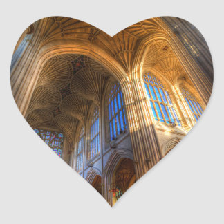 Bath Abbey Architecture Heart Sticker