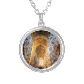 Bath Abbey Architecture Silver Plated Necklace