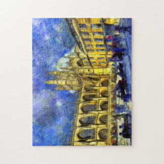 Bath Abbey Art Jigsaw Puzzle