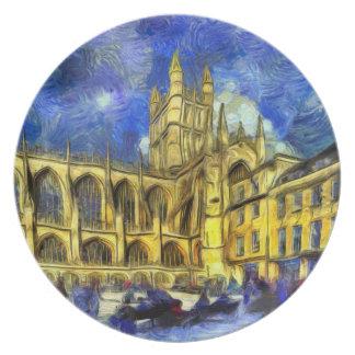 Bath Abbey Art Plate